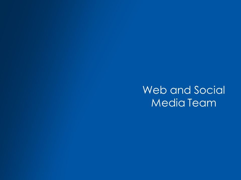 Web and Social Media Team