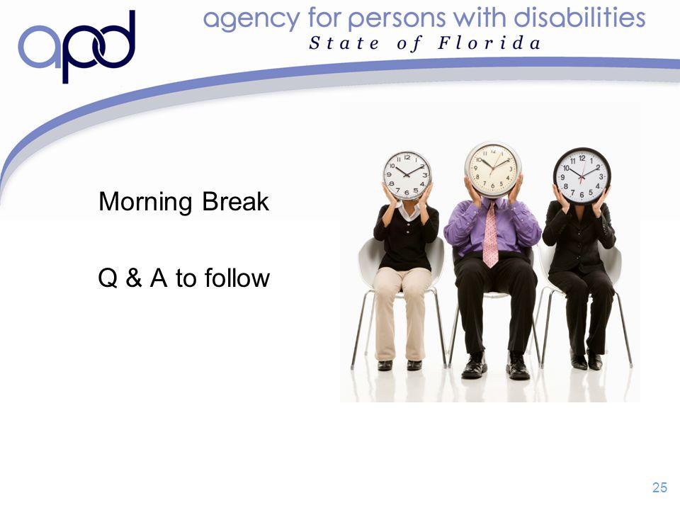 Morning Break Q & A to follow 25