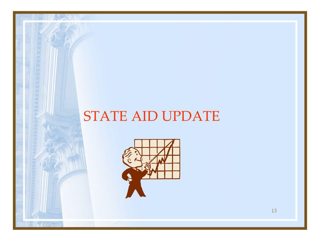 13 STATE AID UPDATE