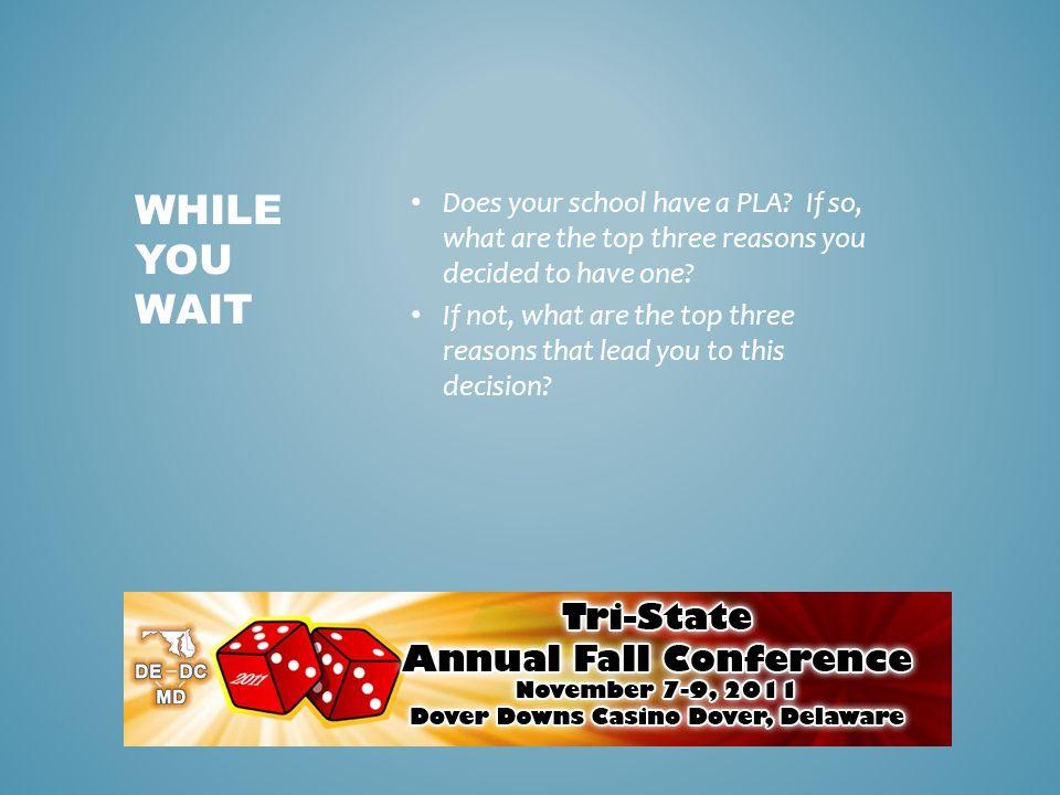 PLA OR NOT TO 'EH' Debra Ensor, Wells Fargo Education Financial Services Kelli Izat, Frostburg State University Michael Poma, SunTrust Bank