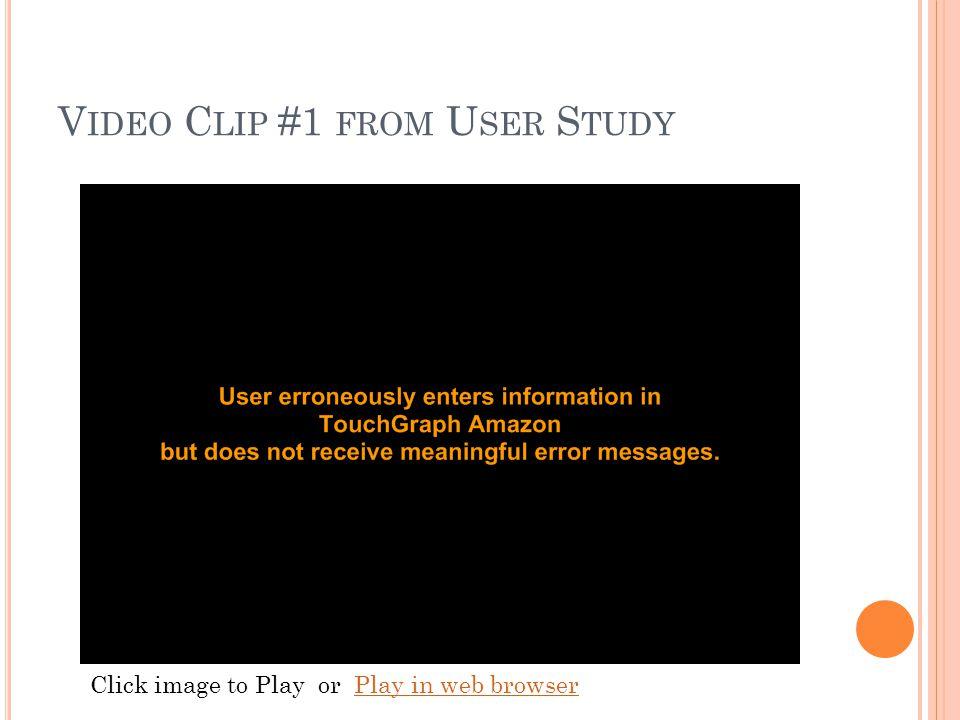 V IDEO C LIP #1 FROM U SER S TUDY Click image to Play or Play in web browserPlay in web browser