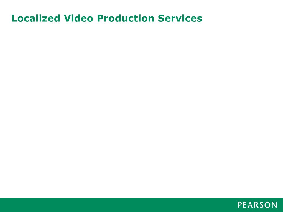 Localized Video Production Services