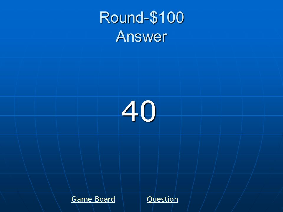 Round-$200 Answer 80 Game BoardQuestion