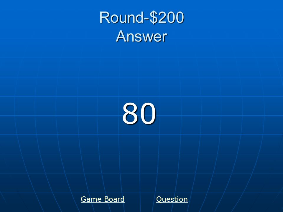Round-$300 Answer 100 Game BoardQuestion