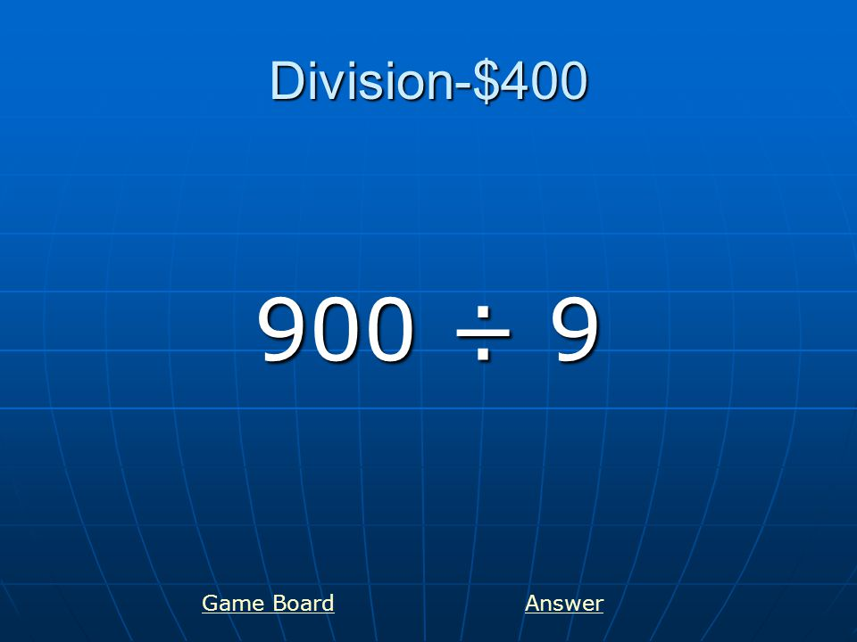 Division-$500 217 ÷ 7 Game BoardAnswer