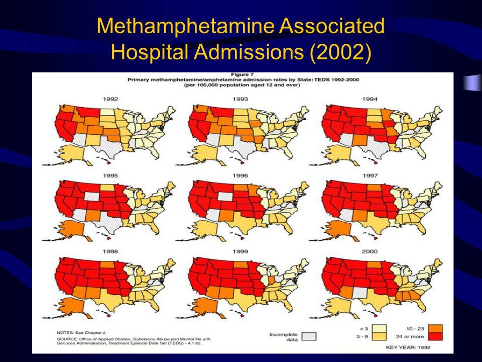 Methamphetamine Associated Hospital Admissions (2002)