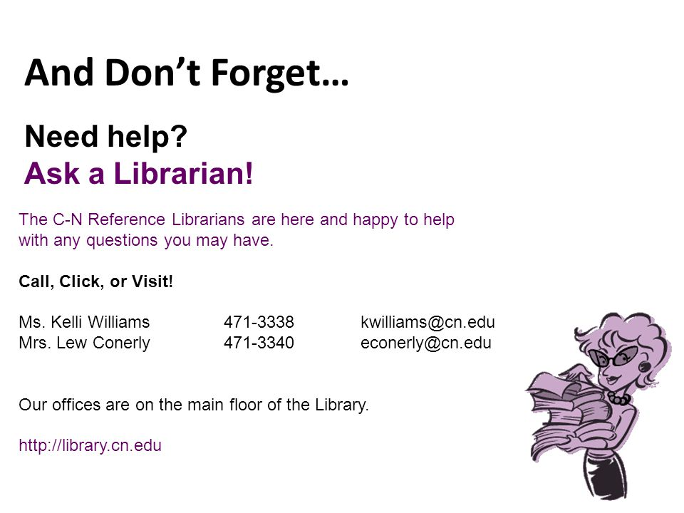 Need help. Ask a Librarian.