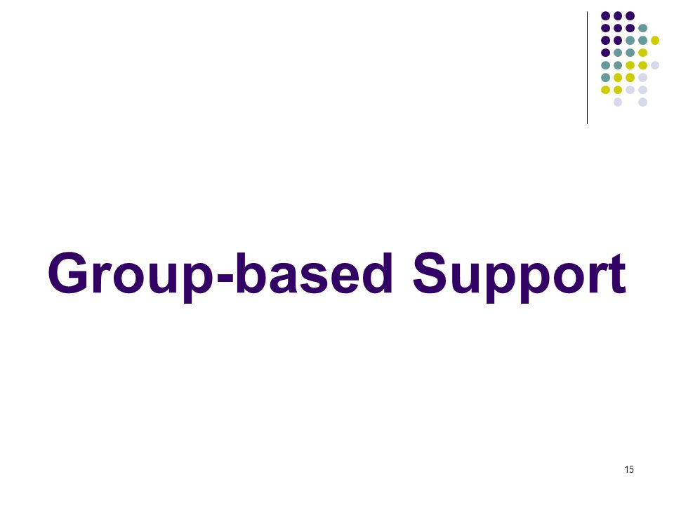 15 Group-based Support
