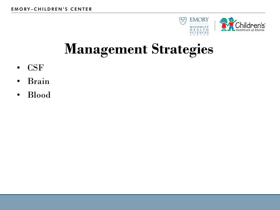 Management Strategies CSF Brain Blood