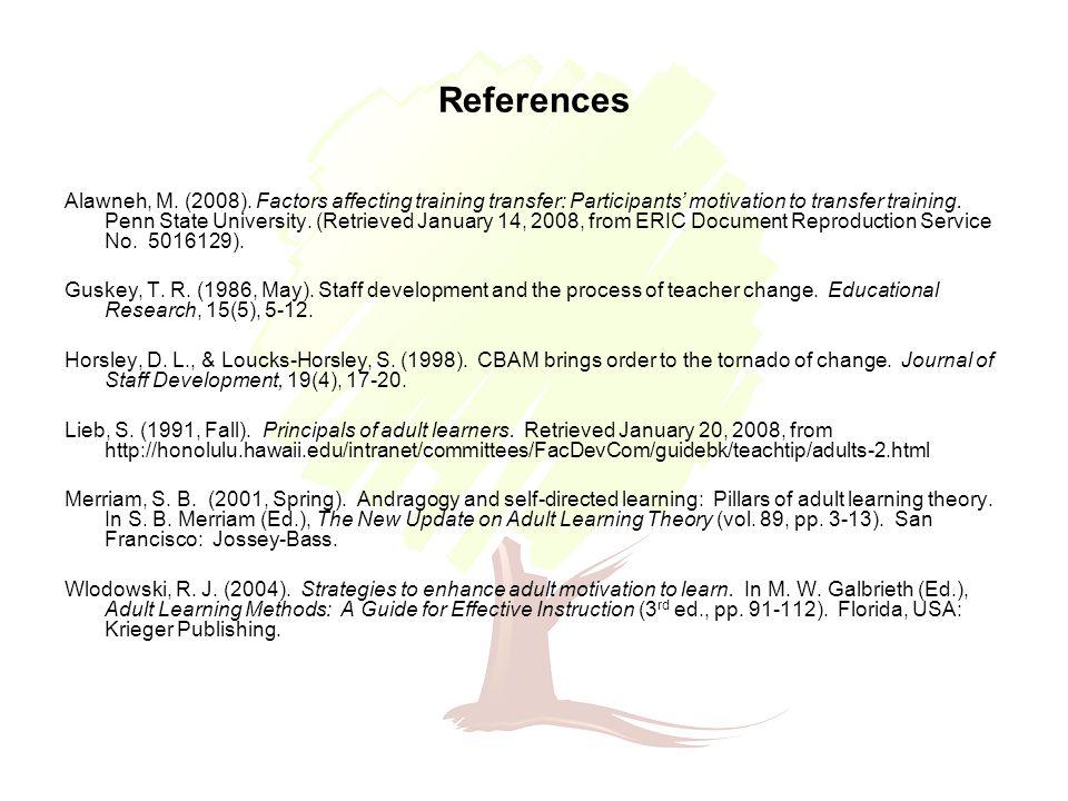 References Alawneh, M. (2008).