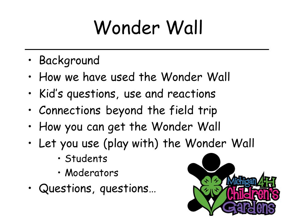 Summary – Wonder Wall Effective tool to expand field trips beyond the museum visit Encourage questions, curiosity and wonder Engaging for students in and out of class Tool to stay connected for a long time