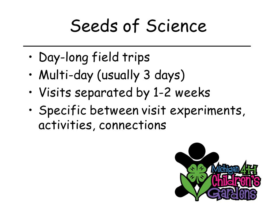 Seeds of Science Science process Plant Parts Plant Problems Plant growing experiment Plant evaluation experiment Questions, questions, questions…