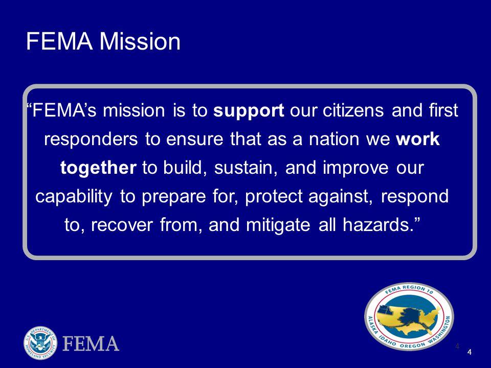 5 FEMA Regional Boundaries