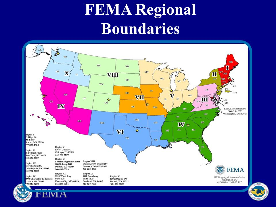 5 FEMA Regional Boundaries