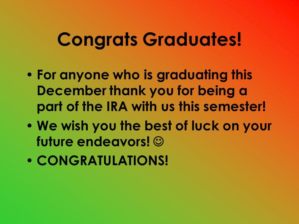 Congrats Graduates.