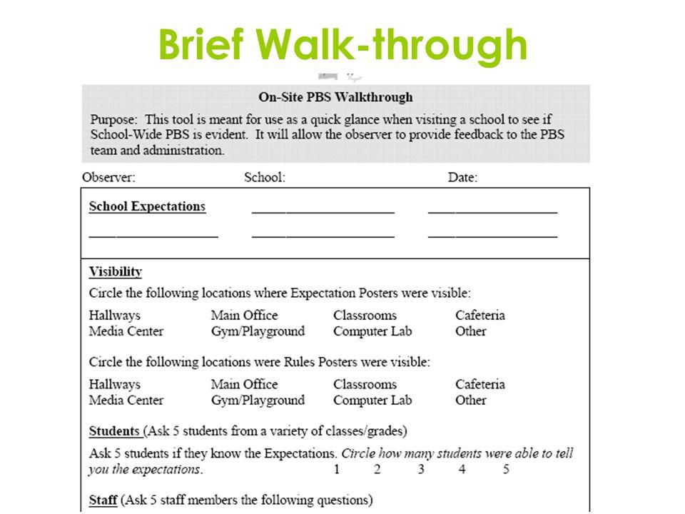 Brief Walk-through