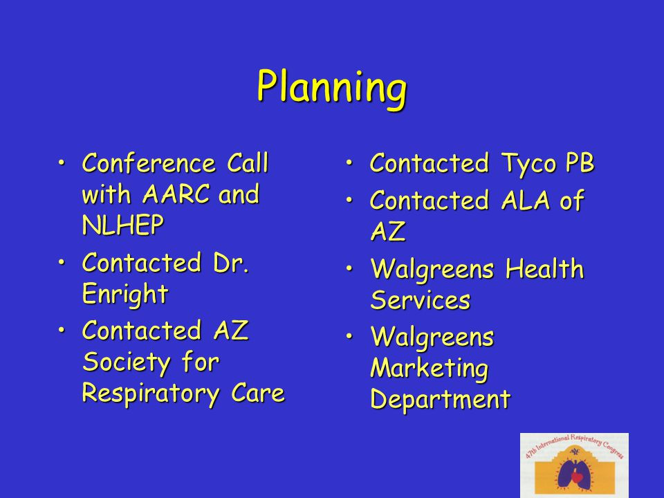 Planning Conference Call with AARC and NLHEPConference Call with AARC and NLHEP Contacted Dr.