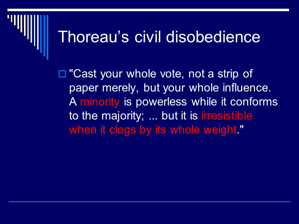 Civil Disobedience in US History  Women's Suffrage Movement Susan B.