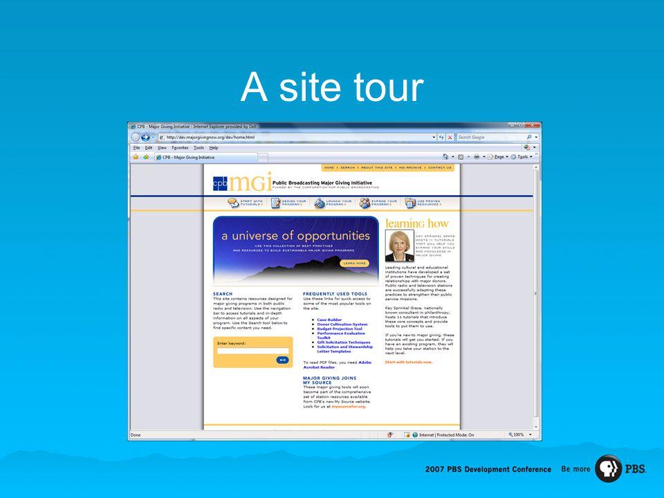 A site tour