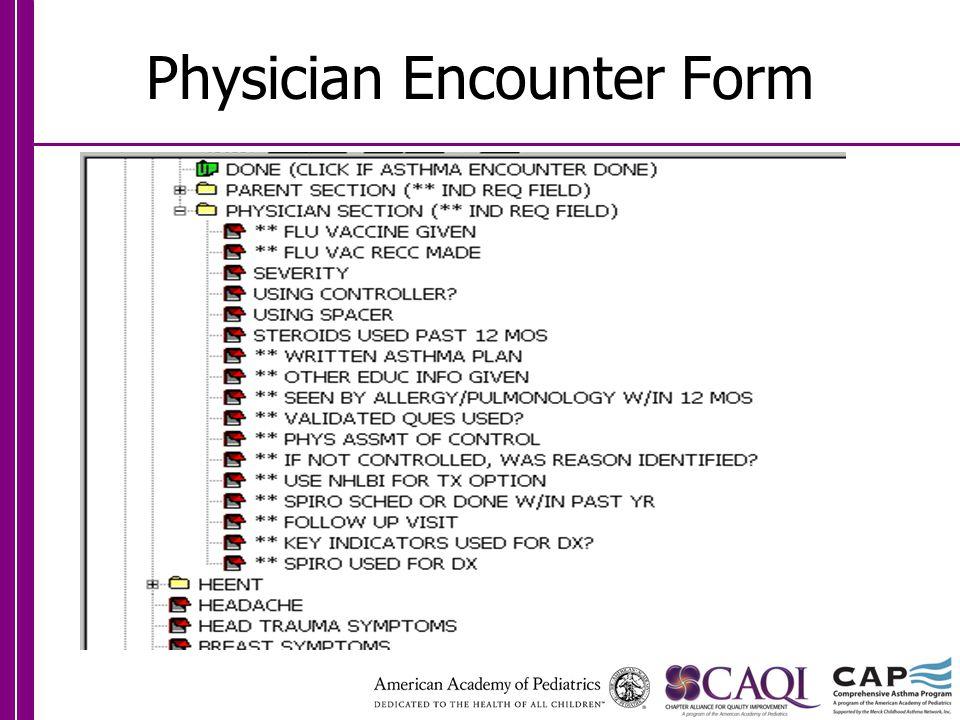 Physician Encounter Form