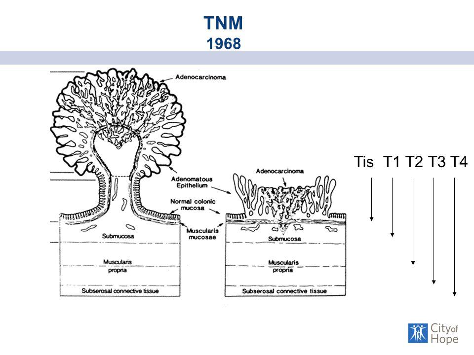 Tis T1 T2 T3 T4 TNM 1968