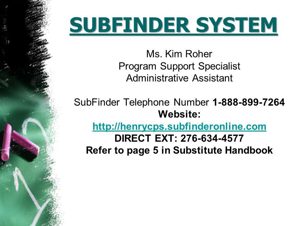 SUBFINDER SYSTEM Ms.