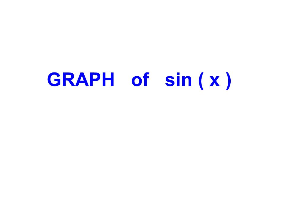 GRAPH of sin ( x )