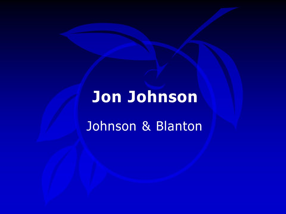 Jon Johnson Johnson & Blanton