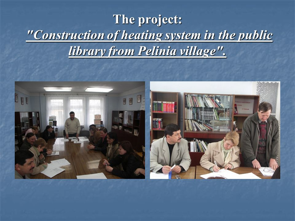 The project was implemented with the support of USAID Project value - over 400,000 MDL