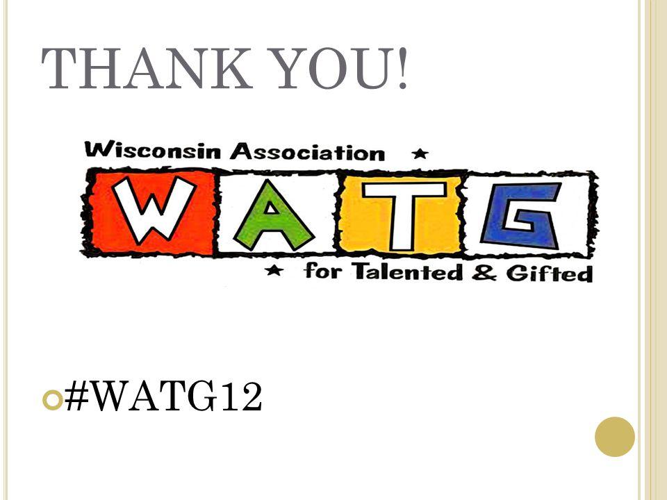 THANK YOU! #WATG12