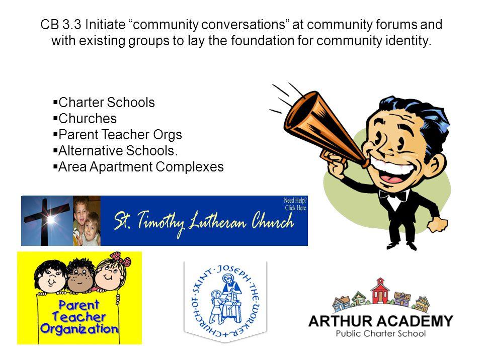  Charter Schools  Churches  Parent Teacher Orgs  Alternative Schools.