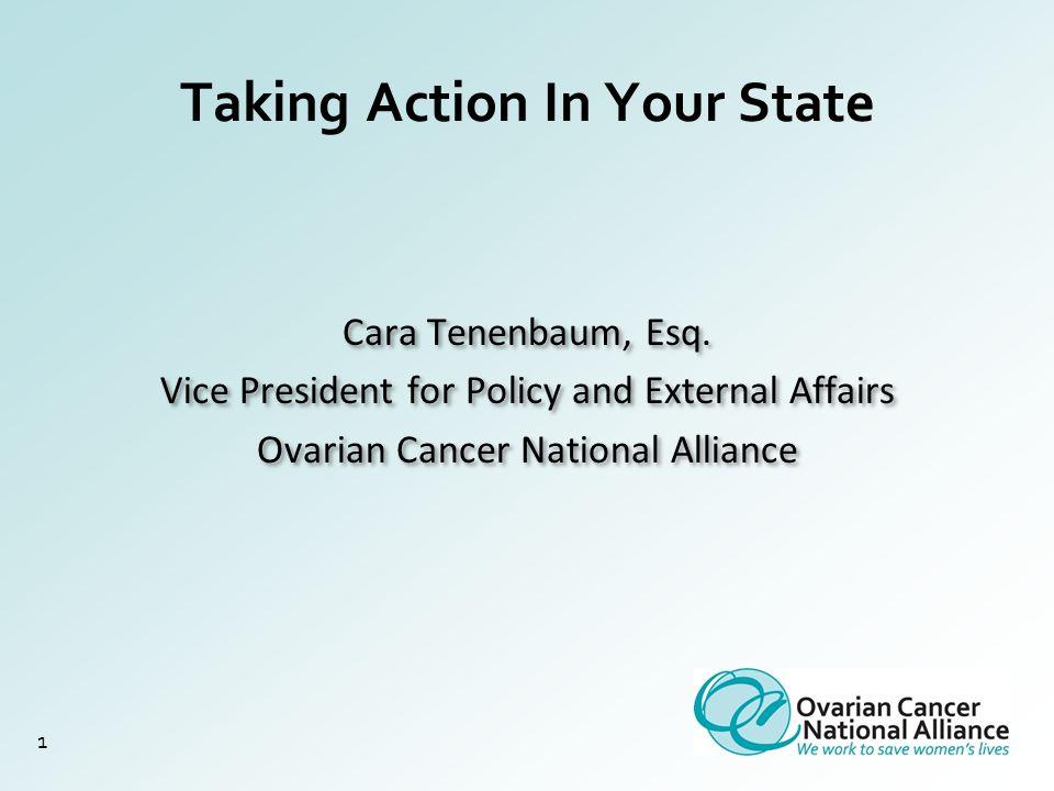 Taking Action In Your State 1 Cara Tenenbaum, Esq.