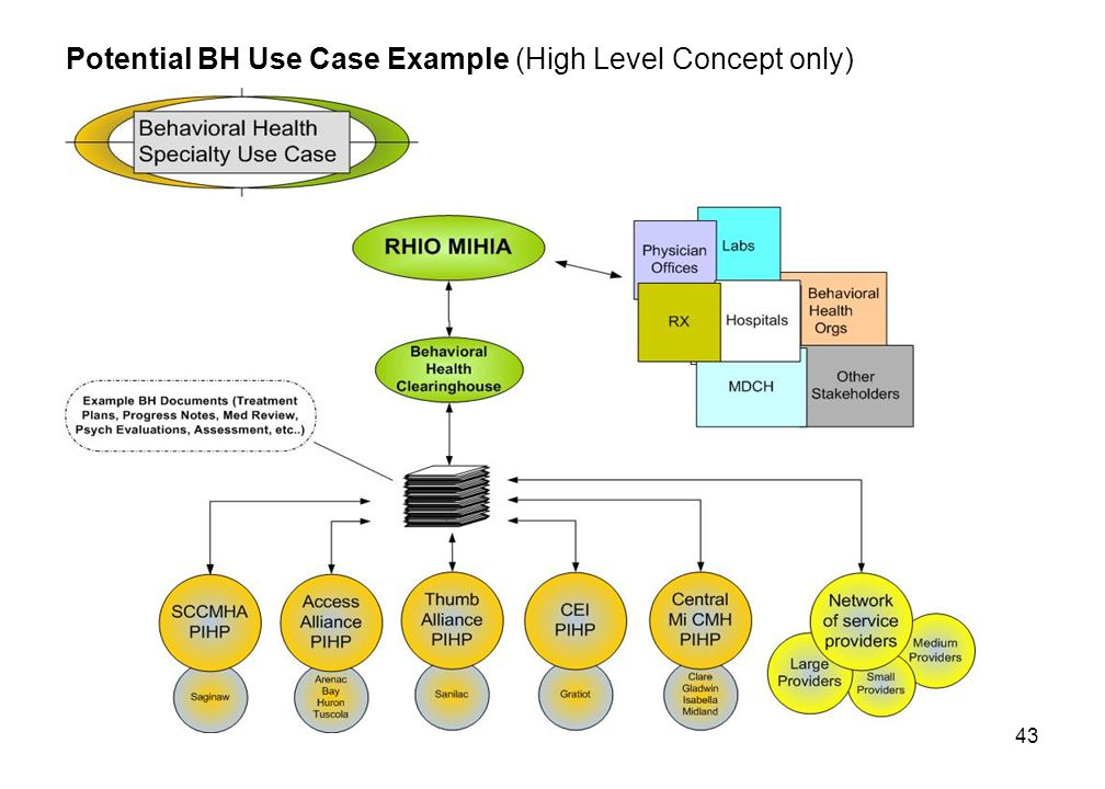43 Potential BH Use Case Example (High Level Concept only)
