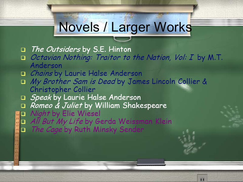 Novels / Larger Works  The Outsiders by S.E.