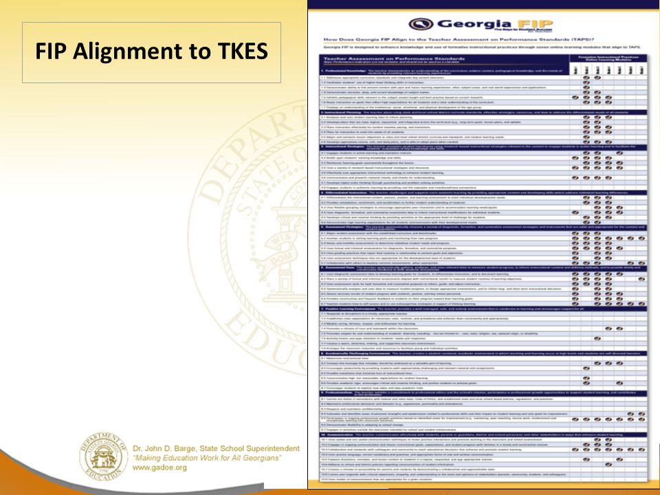 12 FIP Alignment to TKES