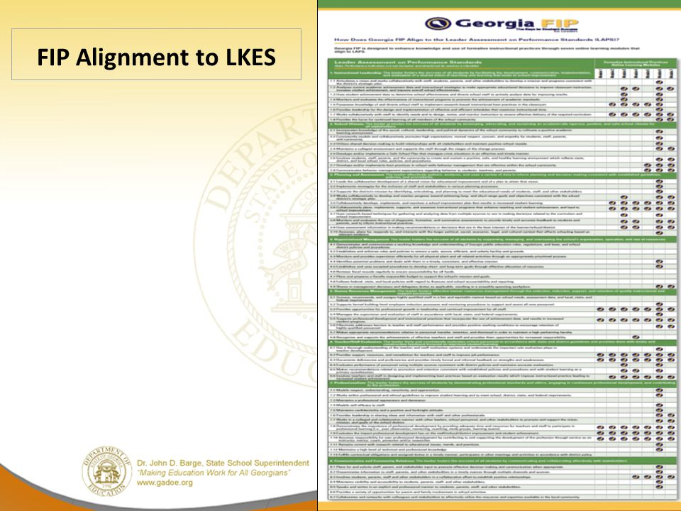 FIP Alignment to LKES 13