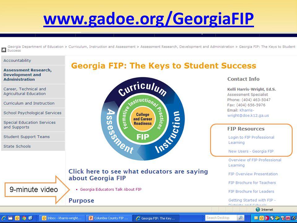 www.gadoe.org/GeorgiaFIP 36 9-minute video