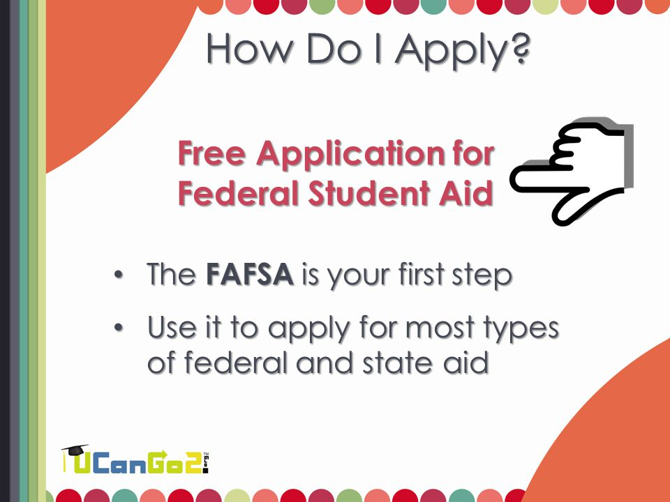 Find the FAFSA Online – Visit FAFSA.gov Online – Visit FAFSA.gov Print a copy – Go to FAFSA.gov ; click FAFSA Filing Options to print a paper FAFSA Print a copy – Go to FAFSA.gov ; click FAFSA Filing Options to print a paper FAFSA Request a paper copy – Call 800.4.FED.AID or 800.730.8913 (TTY) to request copies in English or Spanish Request a paper copy – Call 800.4.FED.AID or 800.730.8913 (TTY) to request copies in English or Spanish