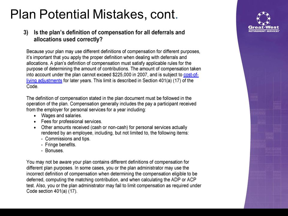 Plan Potential Mistakes, cont.