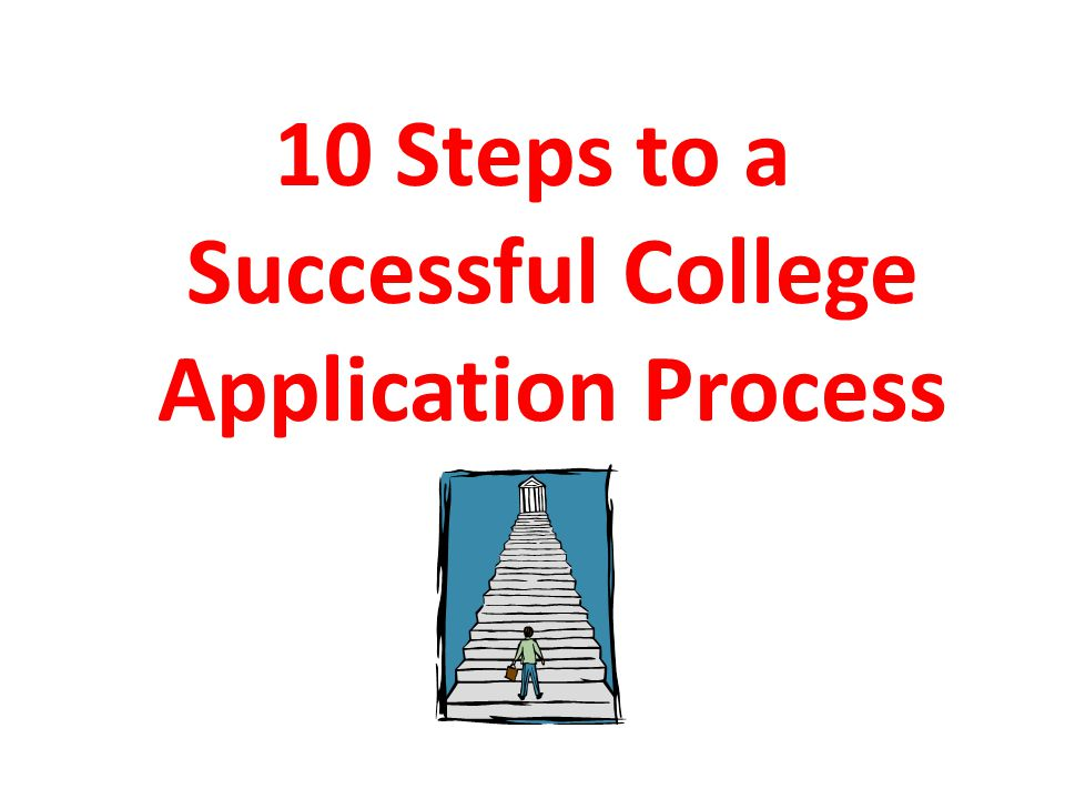 10 Steps to a Successful College Application Process