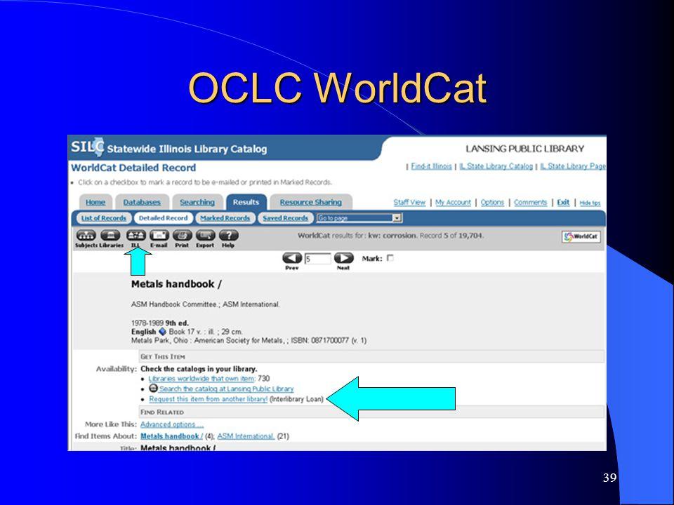 39 OCLC WorldCat