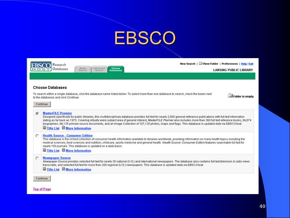 40 EBSCO