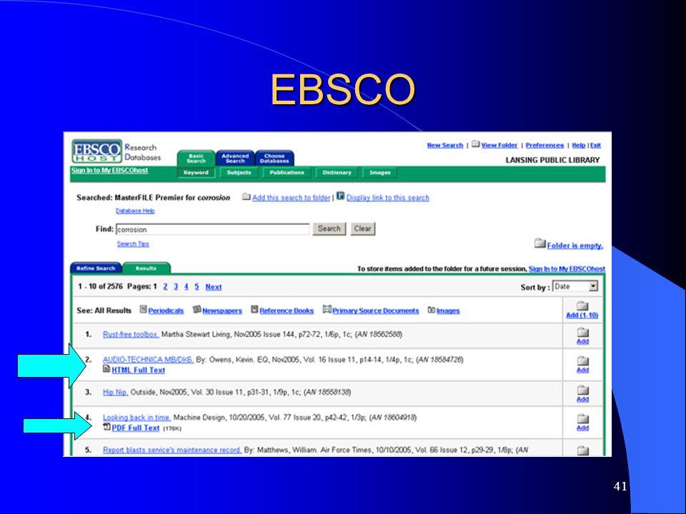 41 EBSCO