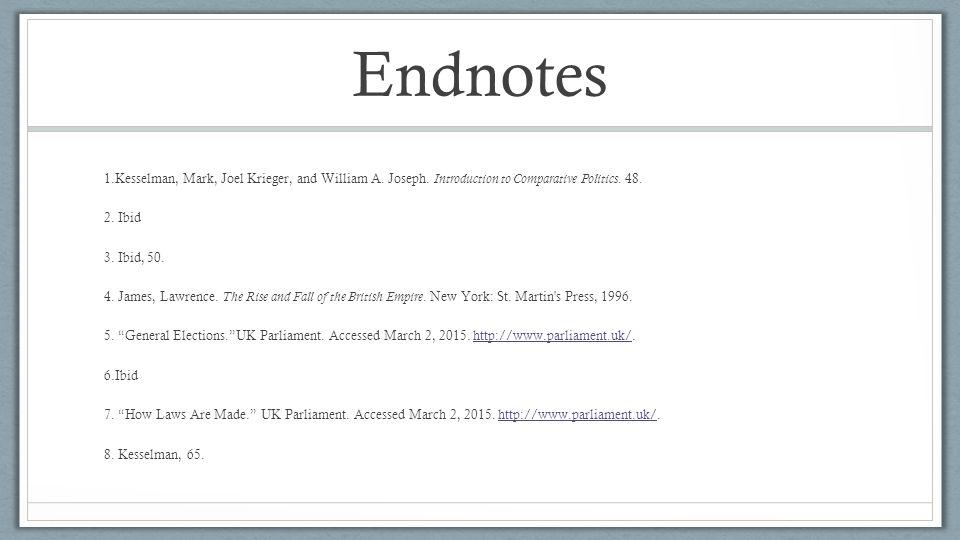 Endnotes 1.Kesselman, Mark, Joel Krieger, and William A.