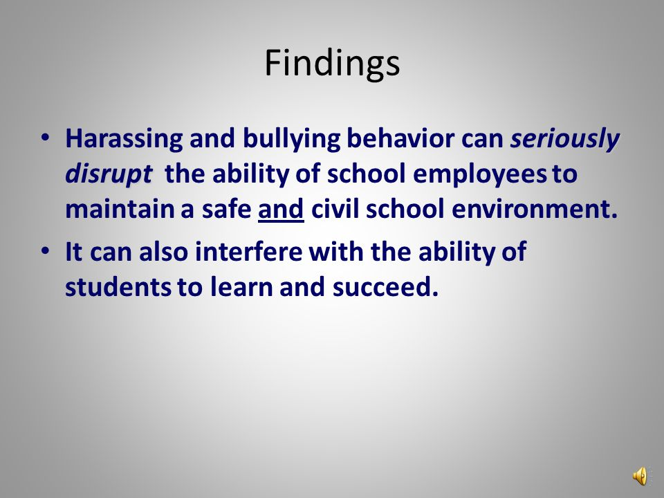 In recent years many people have realized that the significant prevalence of bullying and harassment is having a negative impact on the safety and ach