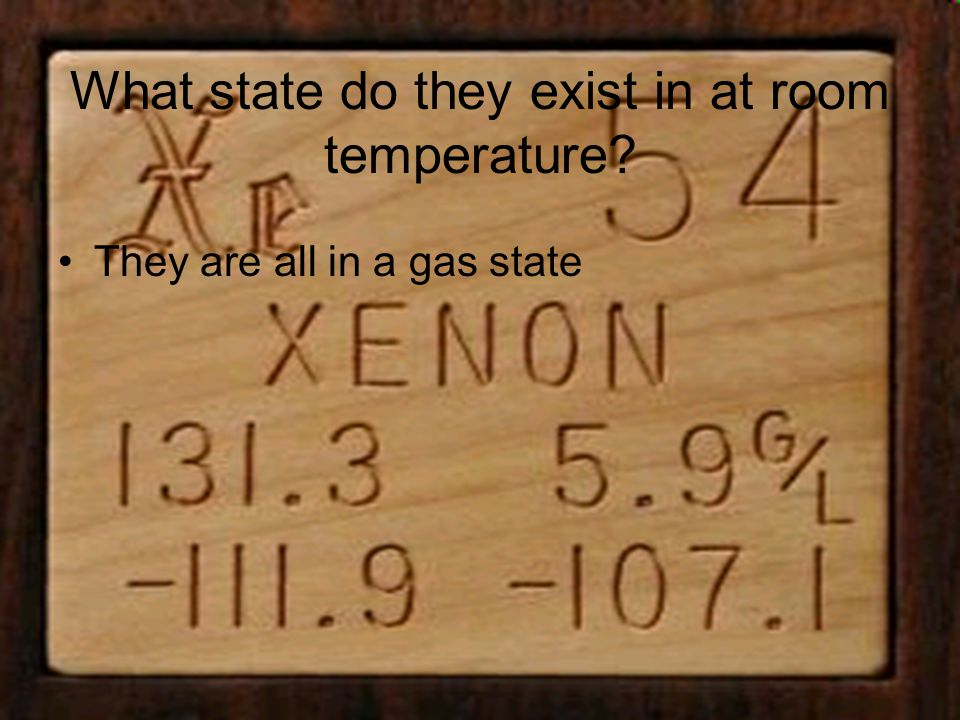 Are there any trends with in the group.They are mostly natural gases with one man made gas.