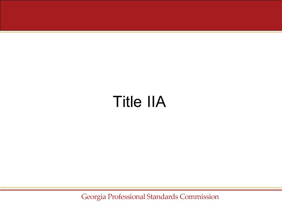 Title IIA