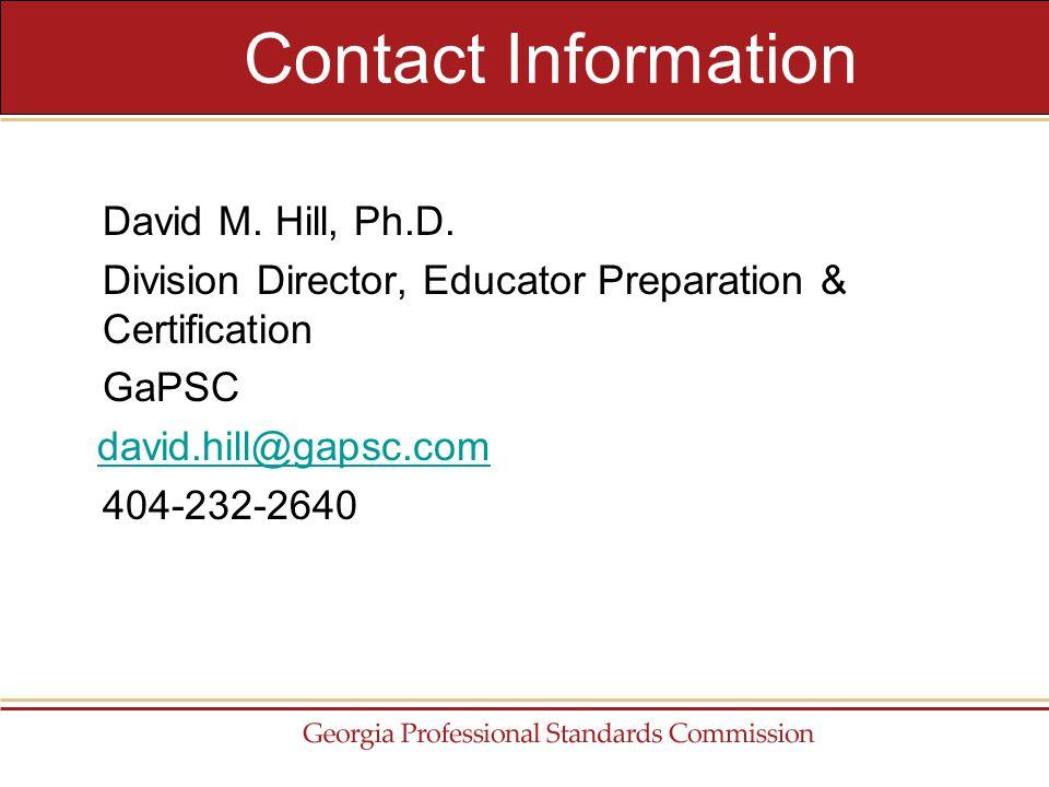David M. Hill, Ph.D.