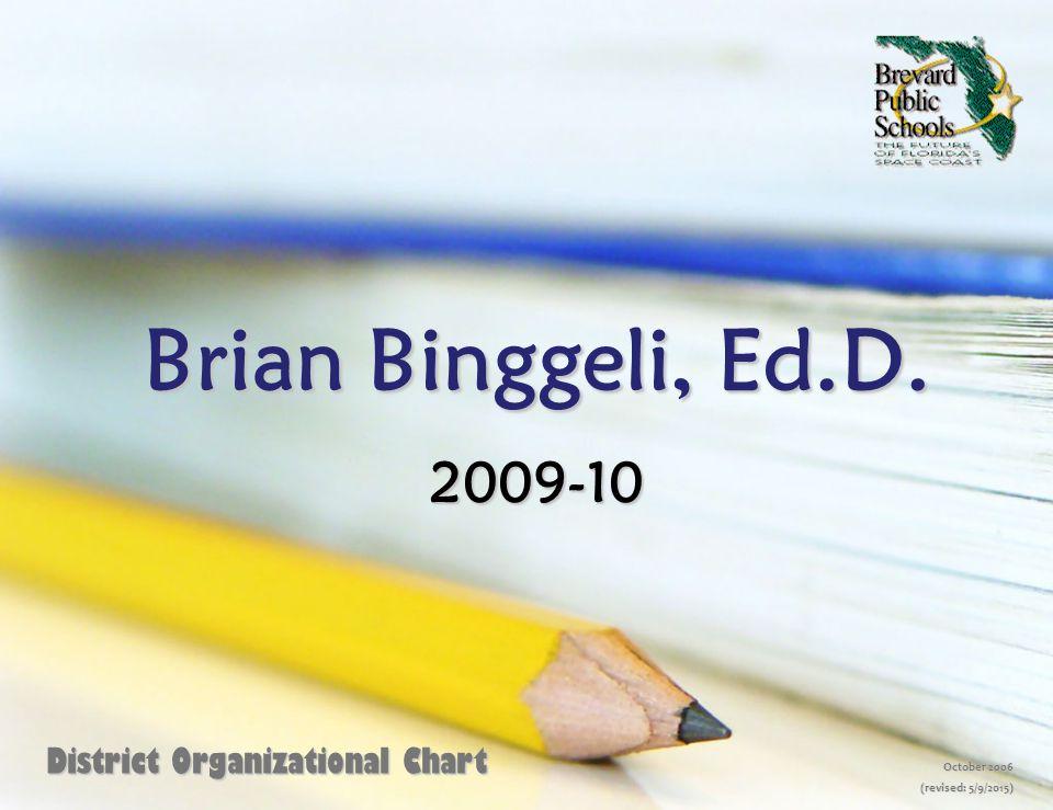 Brian Binggeli, Ed.D. 2009-10 District Organizational Chart October 2006 (revised: 5/9/2015)