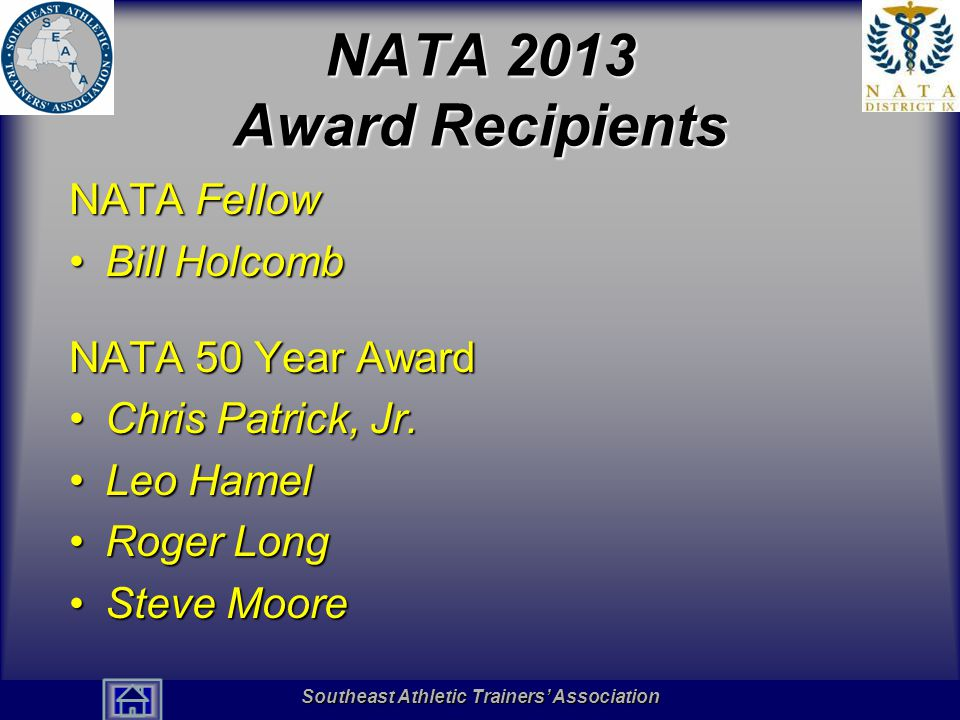 Southeast Athletic Trainers' Association Hall of Fame James L.